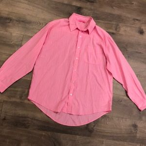 Fresh Produce Blouse Top Size Small Pink Striped
